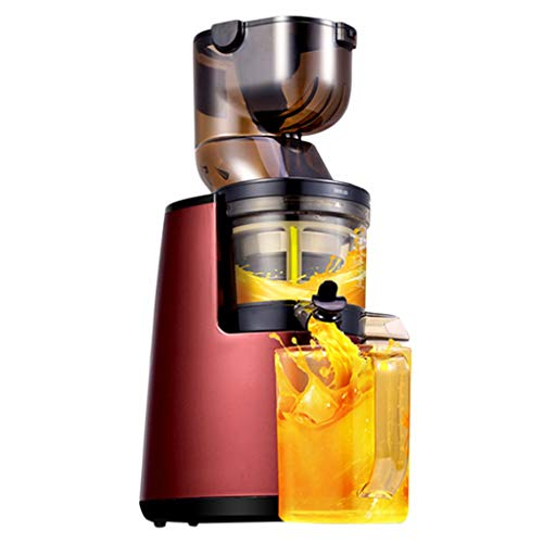 Fruta y Vegetal Cold Press Extractor de Jugo Slow Juicer Extractores de Zumo Helado de Frutas - Boca Ancha de 81MM, Extractor de Masticación Lenta, Sin BPA