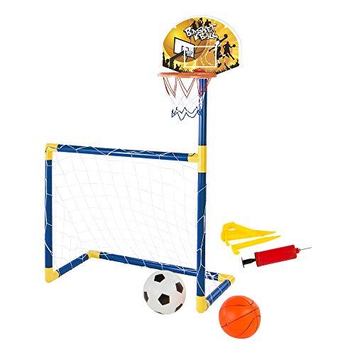 ColorBaby Set 2 en 1 Baloncesto y Fútbol CBtoys (43693)