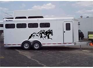 chengdar732 22x68 Running Horses Stickers for Horse Trailer Truck Vinyl Sticker Decor Gift Decals Set of 2