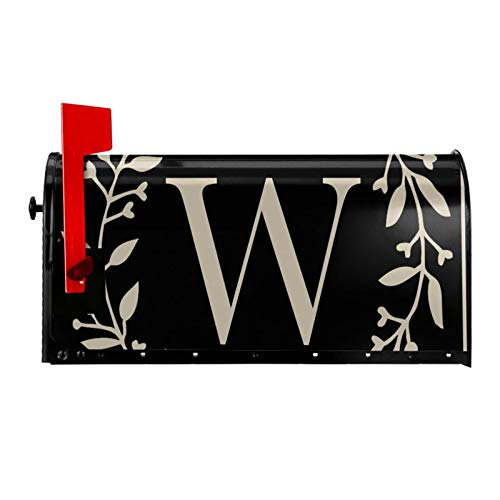 Hitamus Monogram Letter W Mailbox Covers Magnetic Waterproof Mailbox Wraps Post Letter Box Cover Standard Size 21