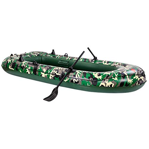 NC Camouflage 3-Person 10FT Inflatable Dinghy Boat Fishing Rafting Water Sports