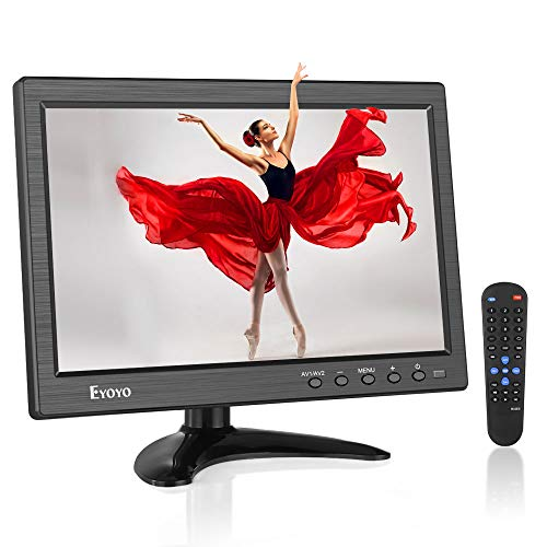 Eyoyo 10.1 inch IPS CCTV Security Monitor Small Portable Laptop Computer Monitor HDMI LCD Monitor Screen 1366x768 w/HDMI VGA BNC AV USB Input