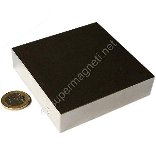 Super Magnet, quaderförmig, aus Neodym, 70 x 70 x 20 mm. Leistung 350kg. Magnetisiertes Wasser-Magnetotherapie Motor mit freier Energie