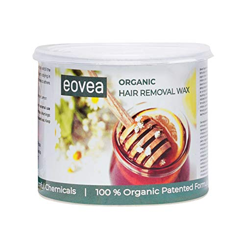 EOVEA Organic Hair Removal Wax (700g), Hair Remover Wax for Women, Body & Face Waxing, Natural Ingredients, No Artificial Colors & Preservatives, Organic Waxing Experience