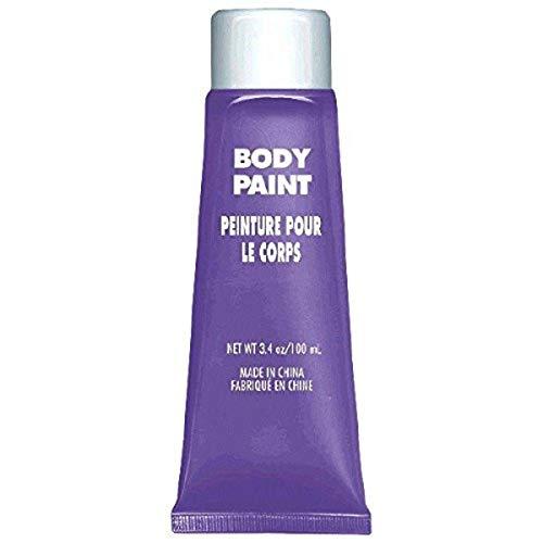 Amscan 3900761 Non Toxix Cream Based Full Body Paint, 34 Oz, Purple