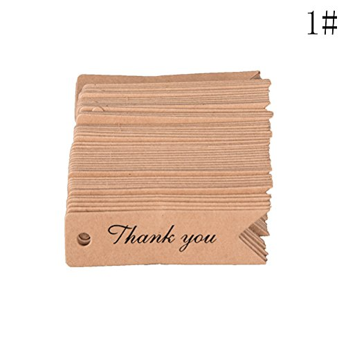 50 stuks papier dag DIY Kraft Love Labels Card Hang Wedding Party Note Blank Gift Wrapping Party Decoratie Paper Wrap Blank Sticker Cloth Gift Han 100pcs 7x2 Style A