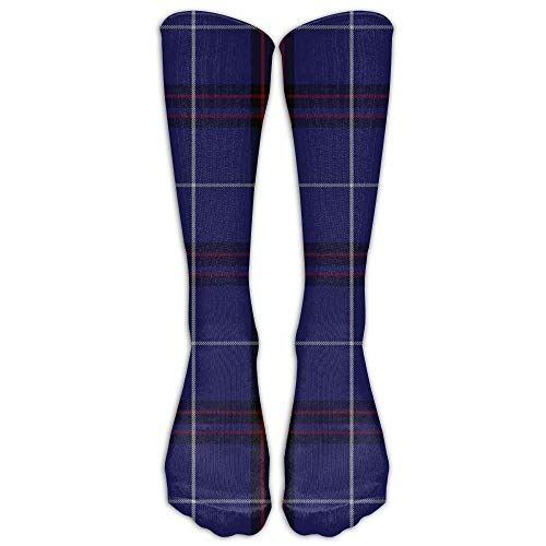 fringcoook Socks Scottish Tartan Plaid Mens Womens Champion Dress Athletic Work Long Knee High Stockings Tights 19.7 inch