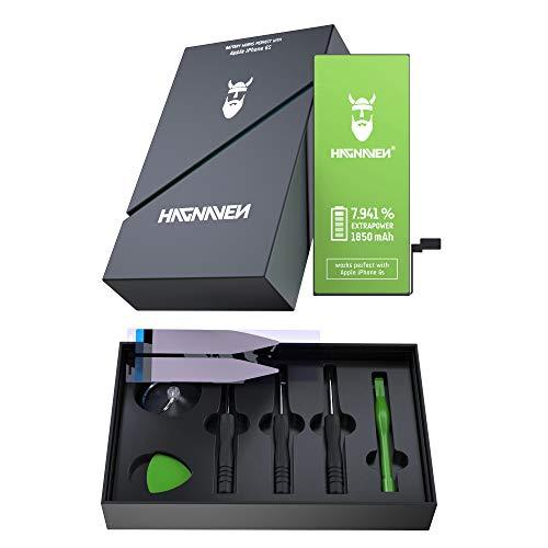 Batería Hagnaven® Li-polímero para Apple iPhone 6s | Batería Premium con Herramientas | Batería de sustitución más Potente | 1850 mAh | Celdas Mayor AUTONOMÍA
