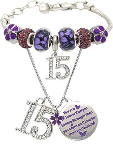 15th Birthday,15 Year Old Birthday,15th Birthday Girl, 15th Birthday Bracelet,15th Birthday Necklace,15 Year Old Daughter Birthday Gift Idea,15 Years Girl Birthday Gift,15 Necklace for Girls