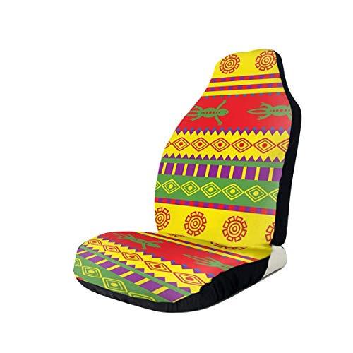 NIET Fancy Mexicaanse stijl patroon gooien kussen Automobile Full-size bedrukte Seat Cover is eenvoudig te installeren2PCS