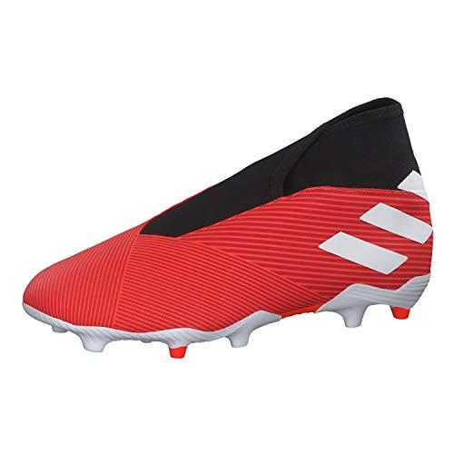 adidas Nemeziz 19.3 Ll Fg, Scarpe da Calcio Unisex-Adulto, Multicolore (Active Ftwr White/Solar Red 000), 44 EU