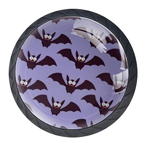 BestIdeas Halloween nacht ronde lade knoppen trekken handgrepen 4 Pack gebruikt voor keuken, dressoir, deur, kast