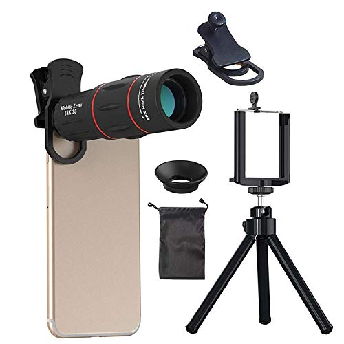 BACKET 18x Mobile Blur Background HD Optical Zoom Telescope Lens kit for All Mobile Camera Blur Background Effect Macro Lens & Wide Angle Effect Lens