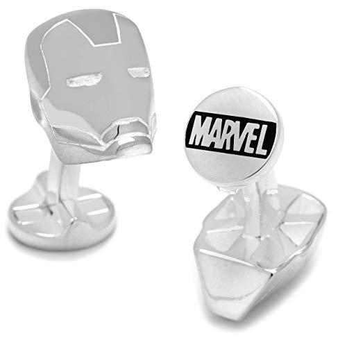 Marvel Iron Man Superhelden Silber Manschettenknöpfe Comics Geschenkbox