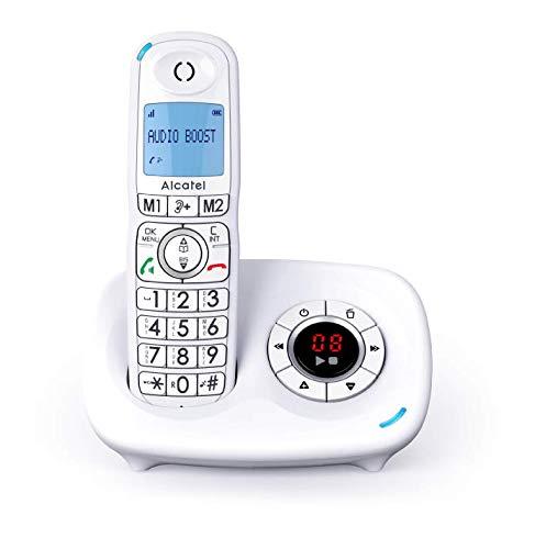 ALCATEL XL 595 B Voice Blanc avec répondeur, téléphone pour les seniors avec blocage des appels intempestifs
