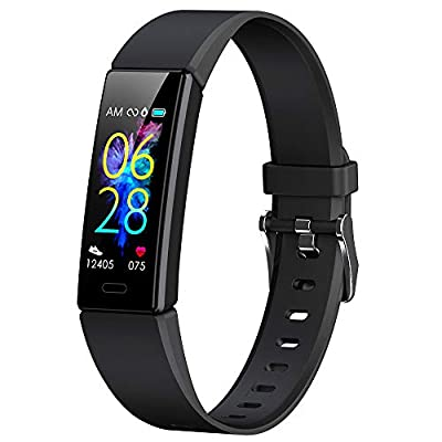 K-berho Slim Fitness Tracker for Kids,Heart Rate Monitor,IP68 Waterproof Activity Tracker for Boys&Girls,Blood Pressure,11 Sport Modes Health Smart Watch with Pedometer Alarm Clock,Great Gift