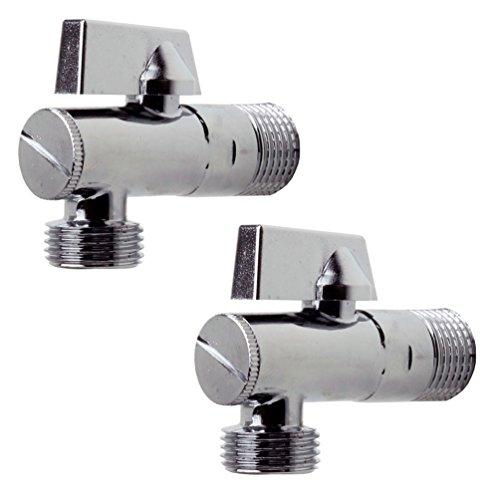 Sanixa JL19SETE38 2er Set Design Eckventil für Küche & Bad | 1/2 Zoll | Eckregulierventil Wasseranschluss Verteiler Absperrventil | mit Filter