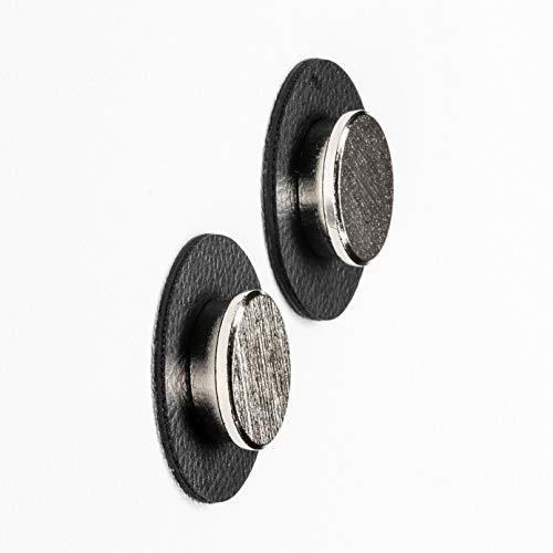silwy Magnet-Pins mit Metall-Nano-Gel-Pads, wiederverwendbar, flexibel einsetzbar, perfekt für Präsentationen, Pläne, Plakate (Black)