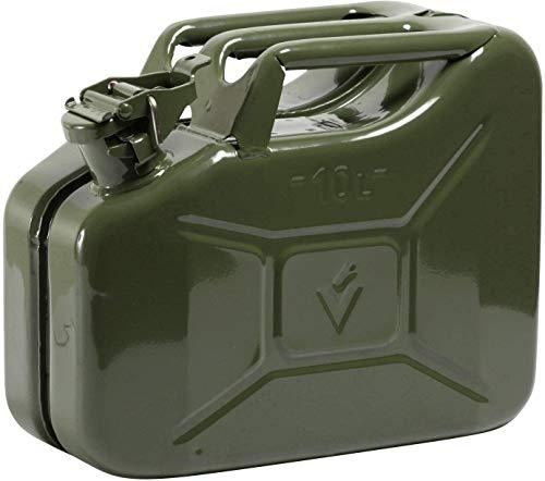 HP-Autozubehör 10117 10l Stahlblech Kraftstoff Kanister Grün