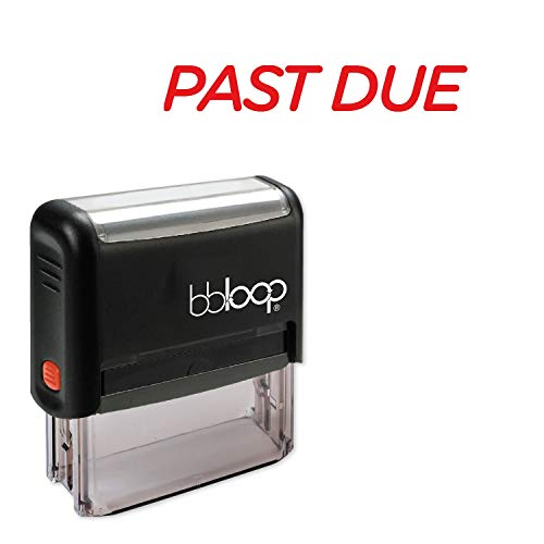 Past Due w/Italic Round Style Font and Design Self-Inking Rubber Stamp