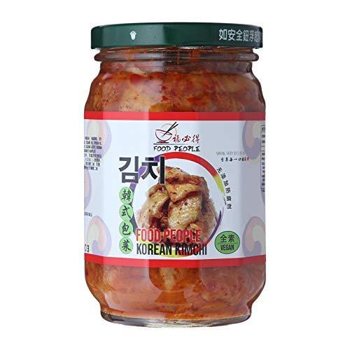 Food People Kimchi vegano (sin conservantes) 400 g – Nuevo embalaje, pero el mismo sabor increíble! Sin conservantes y veganos