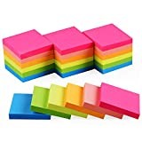 (24 Pack) Sticky Notes 2x2 in Bright Stickies Colorful Super Sticking Power Memo Pads Strong Adhesive 24 Pads/Pack 70 Sheets/pad
