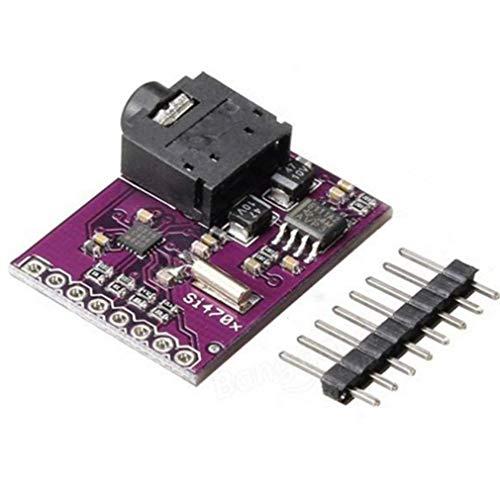 ICQUANZX Si4703 RDS FM-Radio-Tuner-Evaluierungs-Breakout-Board für Arduino AVR PIC ARM
