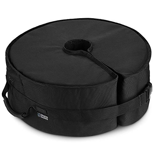 """Rhino Round Umbrella Base Weight with Side Slot Opening, 18"""" ~ Fits Any Offset, Cantilever & Any Outdoor Patio Umbrella Stand ~ Easy Set up (Black)"""