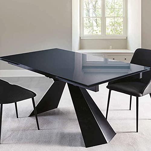 NOUVOMEUBLE Extendable Glass Table with Monoi Design