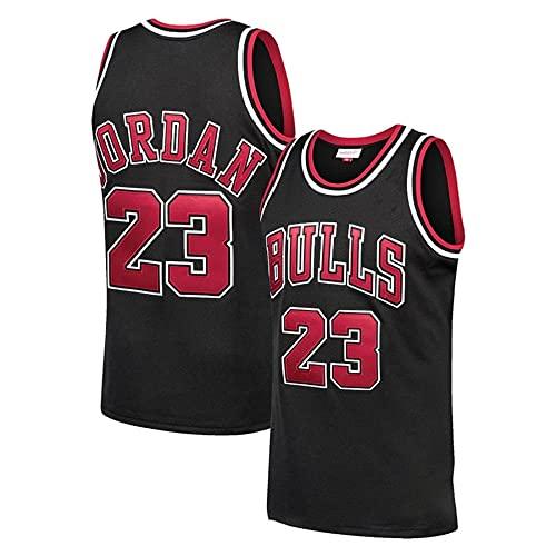 KKSY Camisetas de Baloncesto para Hombre Michael Jordan # 23 Chicago Bulls Camisetas de Baloncesto Chaleco Transpirable Retro,B,S