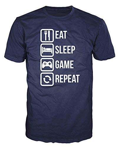 Eat Sleep Game Repeat Funny T-Shirt