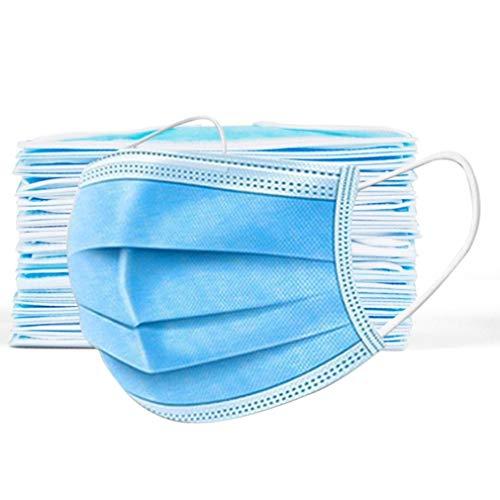 Sensiabl 200 Stücke Einmalmasken Mundschutz Erwachsene Bunt Bandana, Multifunktions Tuch, Atmungsaktiv Gesicht Nase-Kopftuch, Bunt Weich Stoff mit Ohrband (200PCS, Blau)