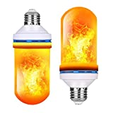 ProPOW LED Flame Effect Light Bulb,4 Modes with Upside Down Effect E26 Medium Base Flickering Light Bulbs LED Flame Bulbs for Christmas Home, Hotel, Party Decoration (2 Pack)