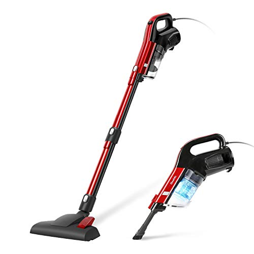 GeeMo Vacuum Cleaner 17Kpa 2 in 1 Handheld Corded Powerful Cleaning Lightweight True HEPA for Hard Floor H594