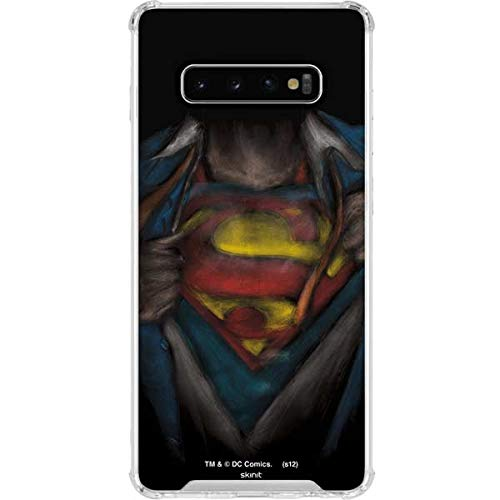 Skinit Clear Phone Case Compatible with Galaxy S10 Plus - Officially Licensed Warner Bros Superman Chalk Design