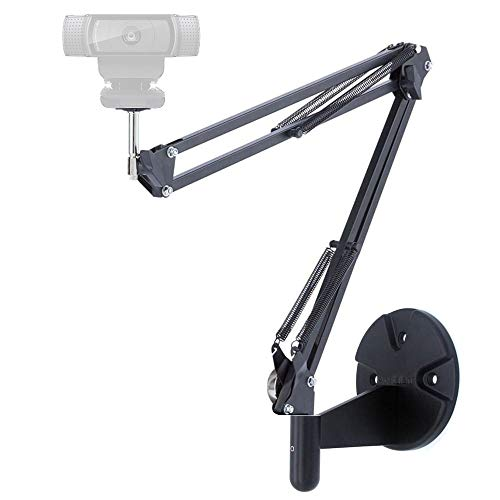 Webcam Arm, Webcam Wall Mount Stand Holder for Logitech C920 C920s C922x C930e C925e Brio - Acetaken