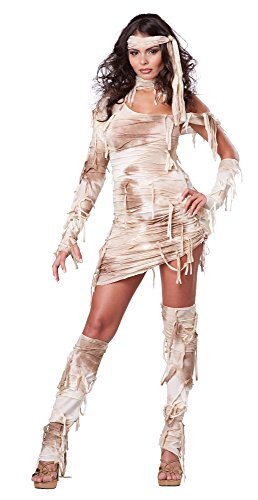 California Costumes Women's Mystical Mummy Sexy Horror Costume, Tan, Small