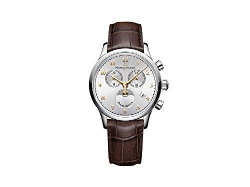 Maurice Lacroix Les Classiques Ladies Quartz Uhr, Silber, 38mm, Chronograph