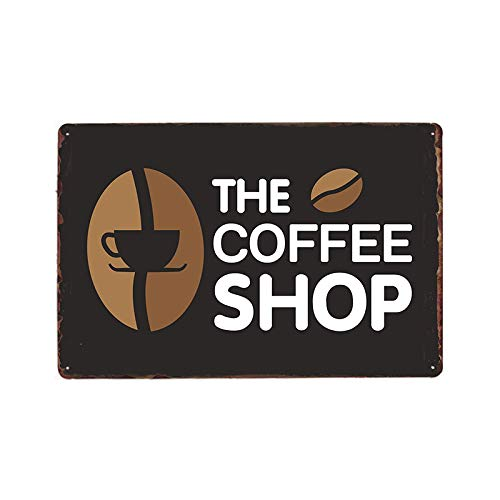 ZYZRYP Retro Coffee Sign Coffee Shop Shop bar Pub Poster Wall Decoration Metal Plaque Mural Iron Painting 9073113