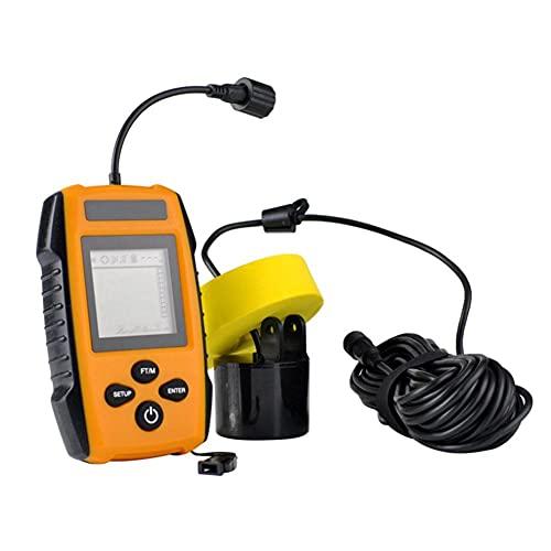 Durable Portátil Buscador De Los Pescados De Pesca Portables Sonar Sonda Sensor para La Detección De Orange Fish Depth