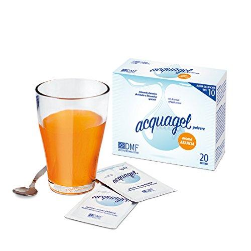 Acquagel Arancia - Polvere Per La Preparazione Di Acqua Gelificata - 2 Confezioni Da 20 Buste Da 5 g, Totale: 200 g