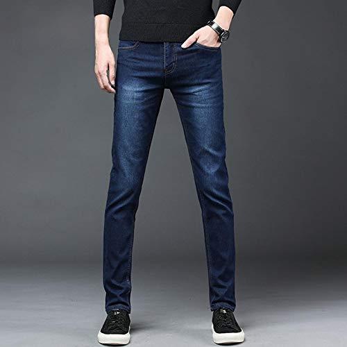 ShSnnwrl Guapo Jeans Vaqueros Pantalon Pantalones Vaqueros De Mezclilla para Hombre Pantalones Rectos De...
