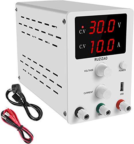 DC Einstellbar Stromversorgung Labornetzgerät 3-stelliger LED Anzeige DC Regelbar Netzgerät Stabilisiert Digitalanzeige (0-30V / 0-10A)