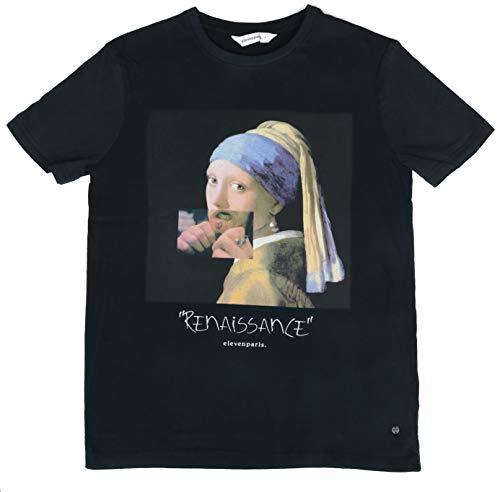 Eleven Paris Herren Renaissance Art T-Shirt -  Schwarz -  Klein