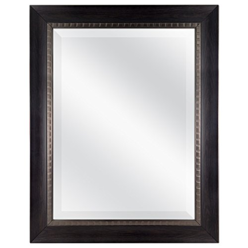 MCS 18x24 Inch Sloped Mirror with Dental Molding Detail, 23.5x29.5 Inch Overall -