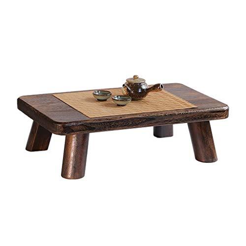 Gartenmöbel & Zubehör Tische Kleiner Couchtisch aus Massivholz Computertisch Wohnzimmer Couchtisch Multifunktions-Couchtisch Tatami Tisch (Color : Wood, Size : 60 * 35 * 18cm)