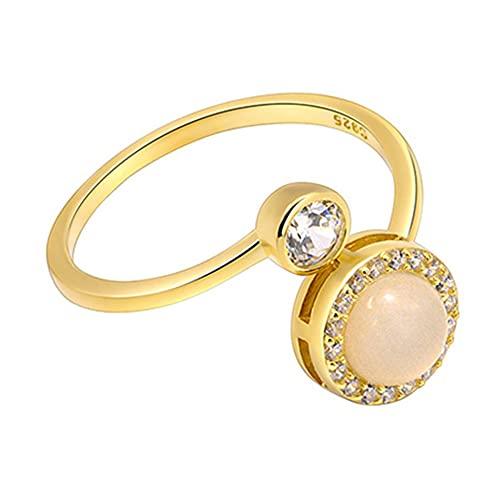 kkkl 1 pc Cat's Eye Anneau Femmes Filles Bijoux Cristal Or Argent Couleur Ouverture Anneau Réglable Alliage Bijoux De Luxe