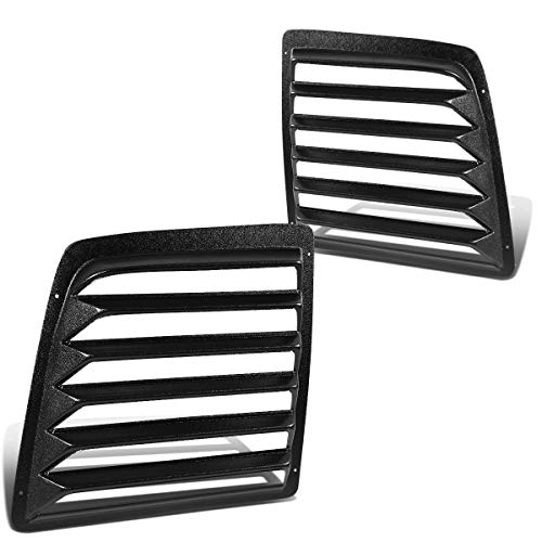 Pair Glossy Black Rear Window Scoop Louvers Sun Shade Replacement for Chevy Express GMC Savana 1500 2500 3500 97-17