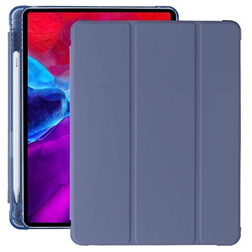 Magnet Case For Ipad 7 10.2 2019 Cover Shockproof For Ipad 10.2 2020 8th Gen 10 Pencil Holder Case A2197 A2200 A2270 A2428 A2430 (Color : Purple Pen slot, Size : Mini 4 5)