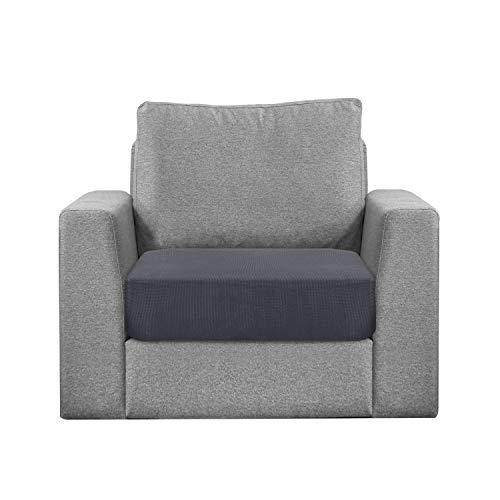 Granbest Sitzkissenbezug, wasserabweisend, für Sofa, Sessel, dehnbar, aus Jacquard-Stoff (1-Sitzer, grau)